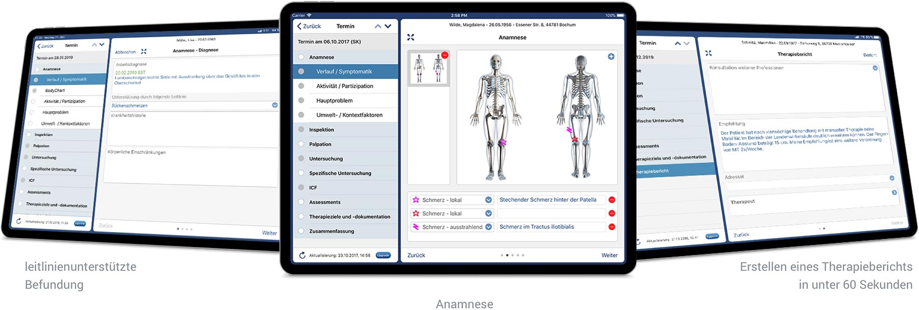 Therapiedokumentation, Mess- und Testverfahren - TheraAssist App